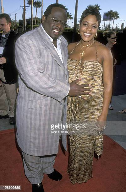 Comedian Cedric 'The Entertainer' Kyles and wife Lorna Wells attend 'The Original Kings of Comedy' Hollywood Premiere on August 10 2000 at Paramount...