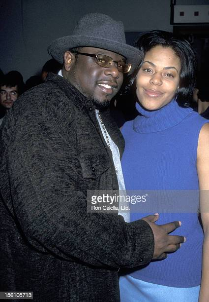 Comedian Cedric 'The Entertainer' Kyles and wife Lorna Wells attend the WB Winter TCA Press Tour on January 6 2001 at Il Fornaio Restaurant in...