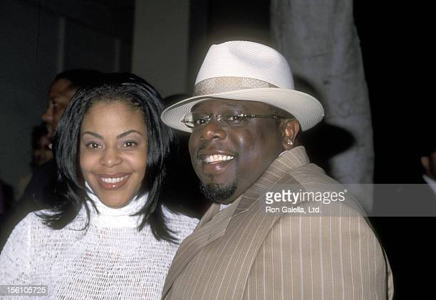Comedian Cedric 'The Entertainer' Kyles and wife Lorna Wells attend the 'Kingdom Come' Beverly Hills Premiere on April 5 2001 at WGA Theatre in...