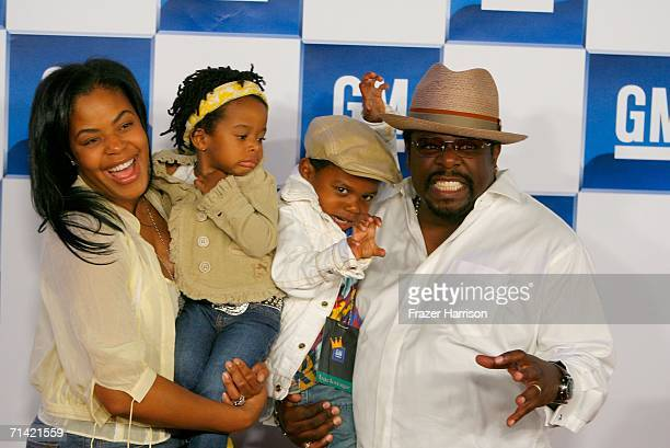 Comedian Cedric the Entertainer with wife Lorna Wells daughter Tiara and son Croix arrive at the 3rd annual GM AllCar Showdown held at Paramount...