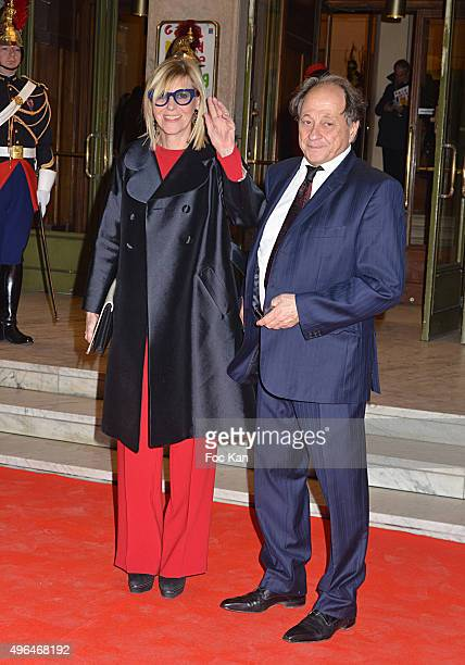 Comedian Chantal Ladesou and her husband Michel Ansaultattend '23rd Gala Pour L'Espoir 2015' Auction Show To Benefit Against Cancer Associations at...