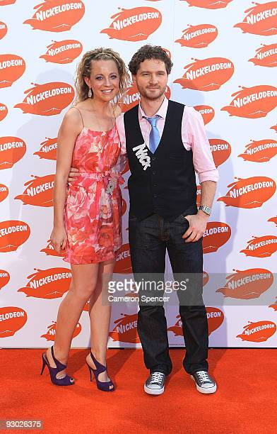 Comedian Charlie Pickering and guest arrive for the Australian Nickelodeon Kids' Choice Awards 2009 at Hisense Arena on November 13 2009 in Melbourne...