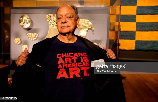 Comedian Cheech Marin, an avid collector of Chicano art, shows his support for Chicano art at the Getty Museum's Pacific Standard Time: LA/LA opening...