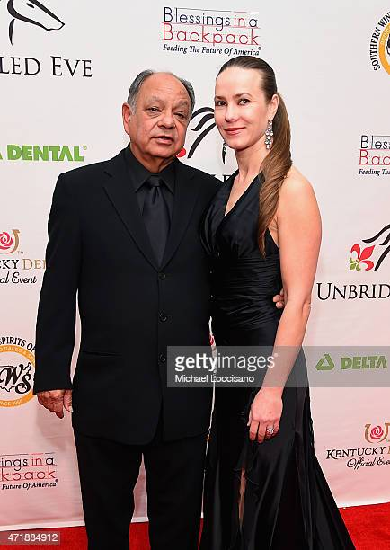 Comedian Cheech Marin and Natasha Rubin attend the 141st Kentucky Derby Unbridled Eve Gala at Galt House Hotel Suites on May 1 2015 in Louisville...