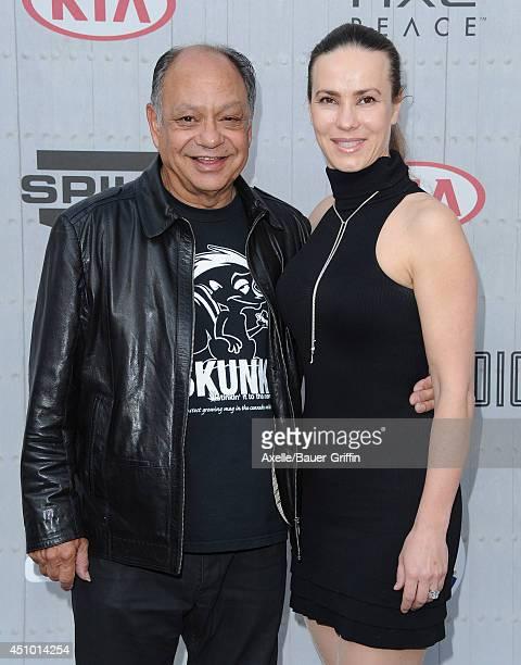 Comedian Cheech Marin and wife Natasha Rubin arrive at Spike TV's 'Guys Choice' Awards at Sony Studios on June 7 2014 in Los Angeles California