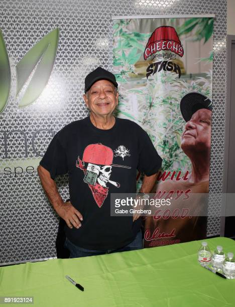 Comedian Cheech Marin attends a meet and greet to introduce his new line of cannabis products at Essence Vegas Cannabis Dispensary on December 13...