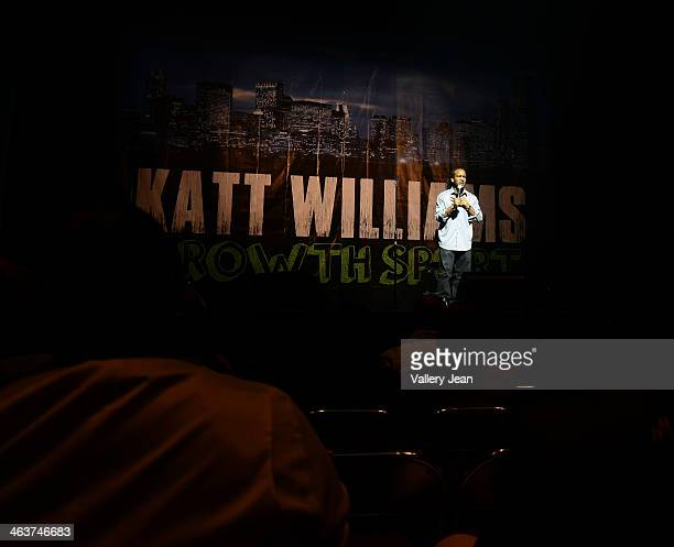 Comedian Chello performs during 'Katt Williams Growth Spurt' comedy tour at James L Knight Center on January 18 2014 in Miami Florida