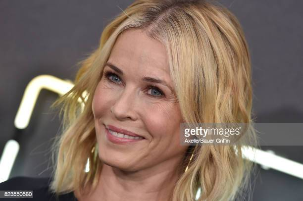Comedian Chelsea Handler arrives at the premiere of Focus Features' 'Atomic Blonde' at The Theatre at Ace Hotel on July 24 2017 in Los Angeles...