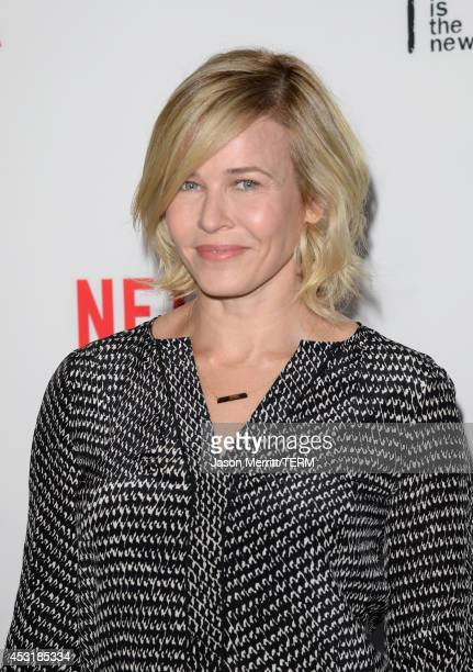 Comedian Chelsea Handler attends Netflix's 'Orange is the New Black' panel discussion at Directors Guild Of America on August 4 2014 in Los Angeles...