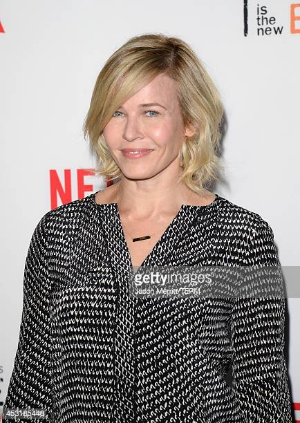Comedian Chelsea Handler attends Netflix's Orange is the New Black panel discussion at Directors Guild Of America on August 4 2014 in Los Angeles...