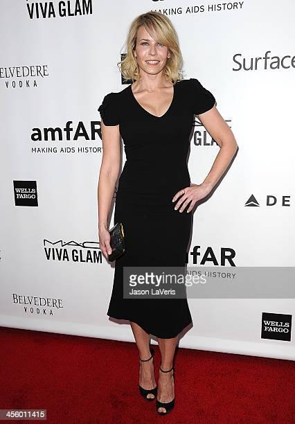 Comedian Chelsea Handler attends the amfAR Inspiration Gala at Milk Studios on December 12, 2013 in Hollywood, California.