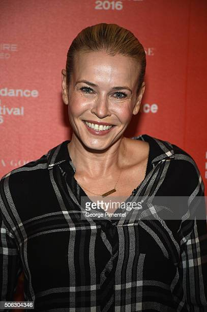 Comedian Chelsea Handler attends the Chelsea Does Premiere during the 2016 Sundance Film Festival at Egyptian Theatre on January 22 2016 in Park City...