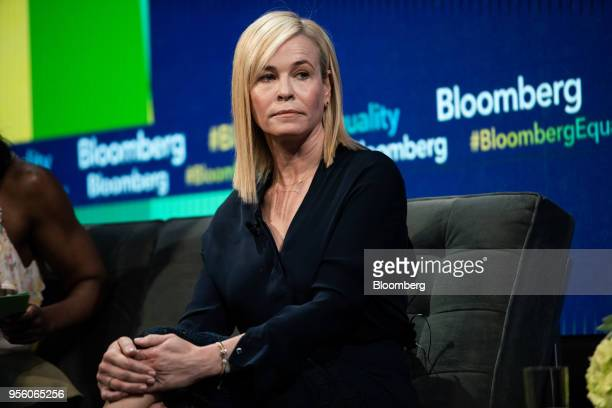 Comedian Chelsea Handler listens during the Bloomberg Business of Equality conference in New York US on Tuesday May 8 2018 The conference brings...