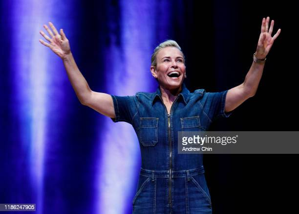 Comedian Chelsea Handler performs at Chan Centre For The Performing Arts on November 07, 2019 in Vancouver, Canada.