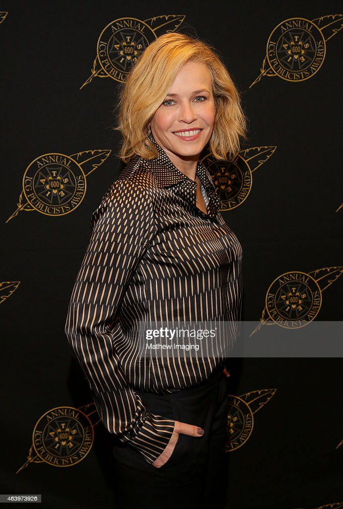 Comedian Chelsea Handler poses backstage at the 52nd Annual ICG Publicists Awards at The Beverly Hilton Hotel on February 20, 2015 in Beverly Hills, California.