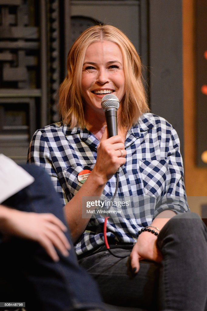 Comedian Chelsea Handler speaks at the Cinema Cafe during 2016 Sundance Film Festival at Filmmaker Lodge on January 23, 2016 in Park City, Utah.