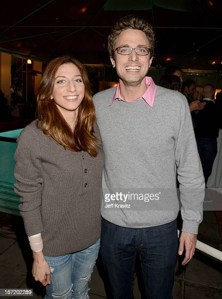 Comedian Chelsea Peretti and BuzzFeed CEO and founder Jonah Peretti and attend BuzzFeed's Los Angeles Bureau Party at SkyBar at the Mondrian Los...