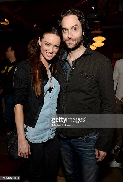 Comedian Chris D'Elia and Cassi Colvin attend the Mortal Kombat X Tournament at The Microsoft Lounge on April 13 2015 in Venice California
