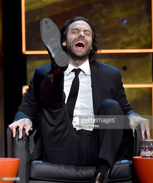 Comedian Chris D'Elia onstage at The Comedy Central Roast of Justin Bieber at Sony Pictures Studios on March 14 2015 in Los Angeles California The...