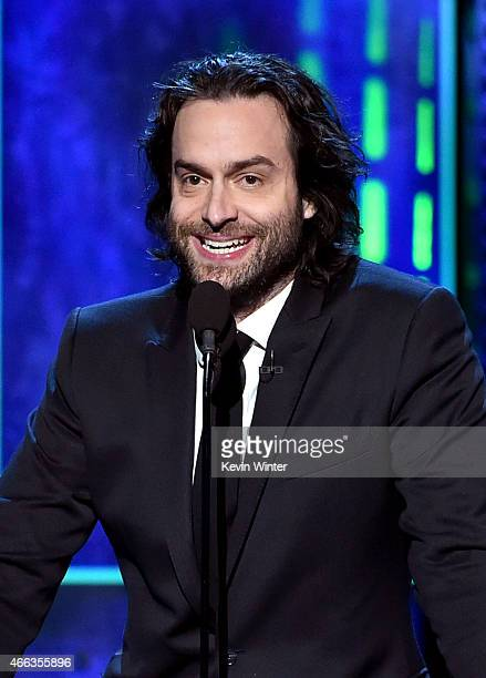 Comedian Chris D'Elia speaks onstage at The Comedy Central Roast of Justin Bieber at Sony Pictures Studios on March 14 2015 in Los Angeles California...