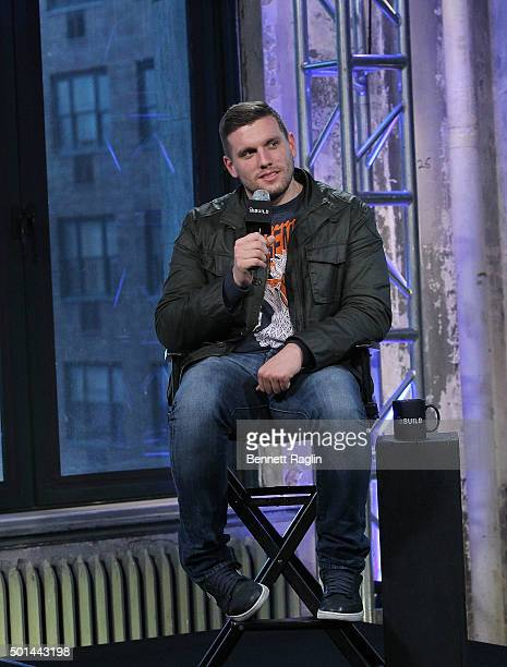 Comedian Chris Distefano attends AOL Build at AOL Studios In New York on December 15 2015 in New York City