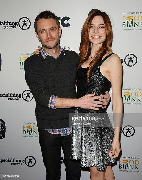 Comedian Chris Hardwick and actress Chloe Dykstra attend IFC's 2012 Comedy Bang Bang Nativity Pageant Holiday Comedy Show benefiting the LA Regional...