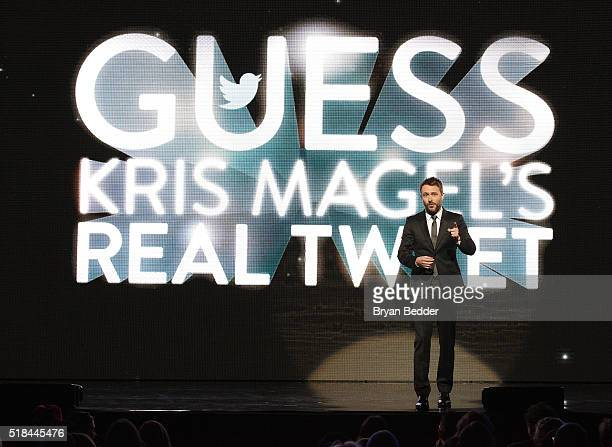 Comedian Chris Hardwick appears onstage during the Comedy Central Live 2016 upfront at Town Hall on March 31 2016 in New York City