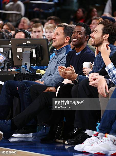 Comedian Chris Rock attends the New York Knicks game against the Chicago Bulls on January 3 2016 at Air Canada Centre in Toronto Canada NOTE TO USER...