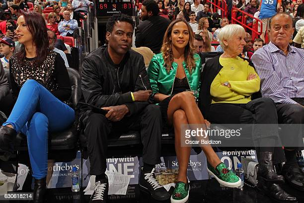 Comedian Chris Rock attends the Oklahoma City Thunder game against the Miami Heat on December 27 2016 at American Airlines Arena in Miami Florida...