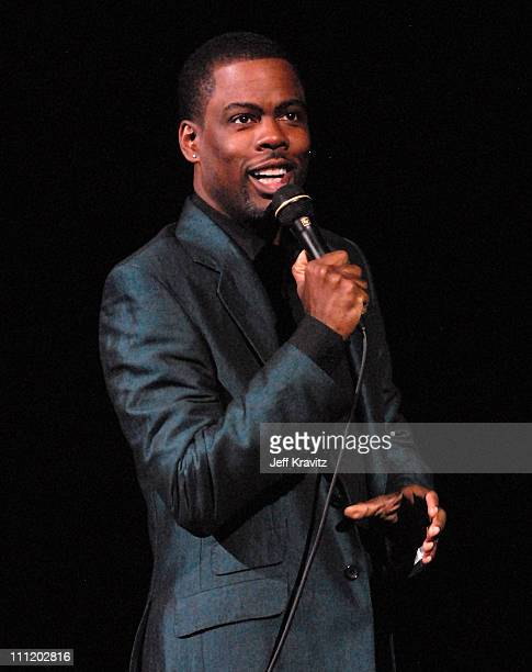 Comedian Chris Rock on stage at HBO AEG Live's 'The Comedy Festival' 2007 at Caesars Palace on November 16 2007 in Las Vegas Nevada