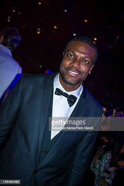 Comedian Chris Tucker photographed at the amfAR Cinema Against AIDS gala, for Paris Match on May 24 in Cap d'Antibes, France.