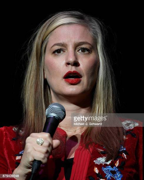 Comedian Christina Pazsitzky performs during Tom Segura's No Teeth No Entry Tour at The Wiltern on November 25 2017 in Los Angeles California