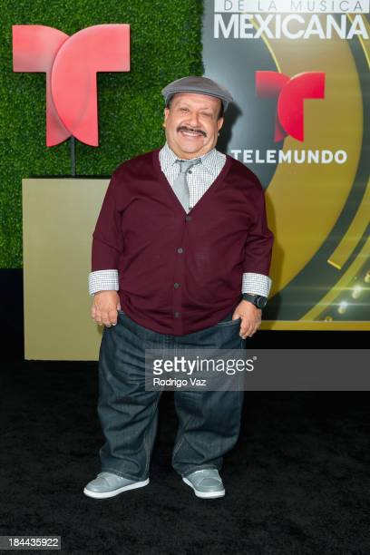 Comedian Chuy Bravo attends the 2013 Billboard Mexican Music Awards Press Room at Dolby Theatre on October 9 2013 in Hollywood California