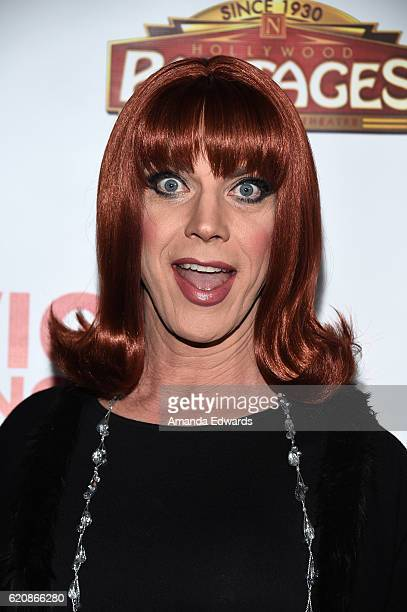 """Comedian Coco Peru arrives at Opening Night of """"Hedwig and The Angry Inch"""" at the Pantages Theatre on November 2, 2016 in Hollywood, California."""