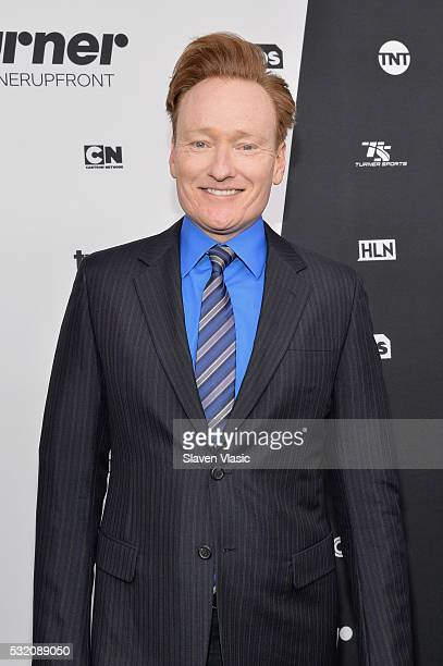 Comedian Conan O'Brien attends the Turner Upfront 2016 at Nick & Stef's Steakhouse on May 18, 2016 in New York City.