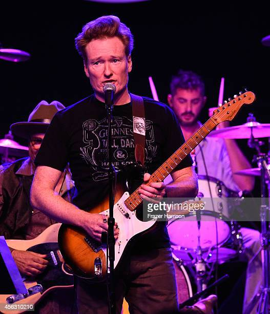 Comedian Conan O'Brien performs at theThe Best Fest Presents GEORGE FEST An Evening To Celebrate The Music Of George Harrison at The Fonda Theatre on...