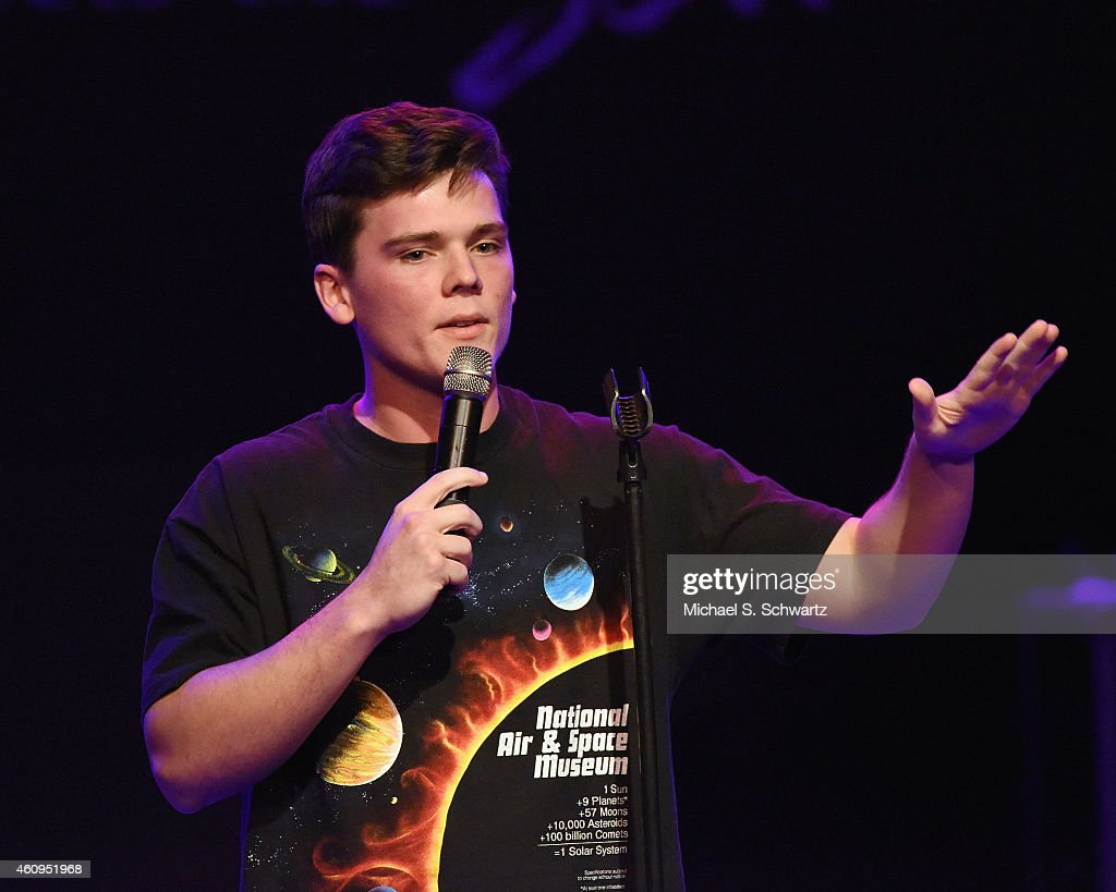 Comedian Connor McNutt performs during his appearance at The Canyon Club on December 31, 2014 in Agoura Hills, California.
