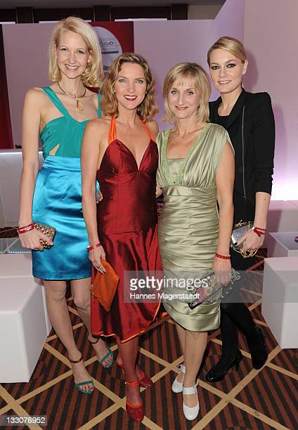 Comedian Constanze Behrends Susanne Paetzold Petra Nadolny and Martina Hill attend the Video Entertainment Night at The Westin Grand on November 16...