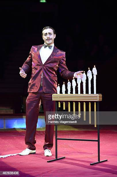 Comedian COPERLIN performs during the 'Wunderwelt der Manege' Circus Krone Premiere on February 1 2015 in Munich Germany