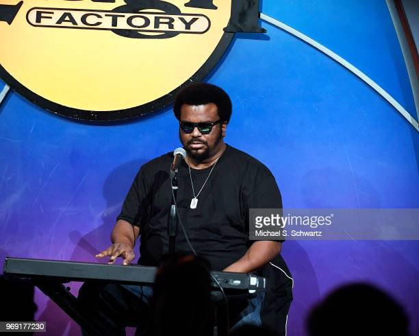 Comedian Craig Robinson performs at the SarcomaOma Foundation Comedy Benefit at The Laugh Factory on June 6 2018 in West Hollywood California