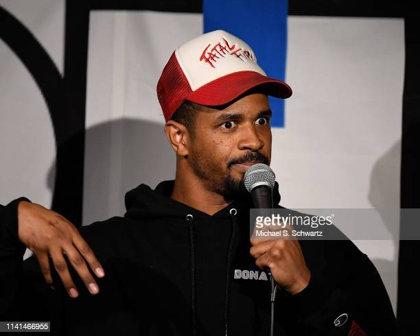 Comedian Damon Wayans Jr performs during his appearance at the NoHo Comedy Festival at Ha Ha Cafe Comedy Club on May 4 2019 in North Hollywood...