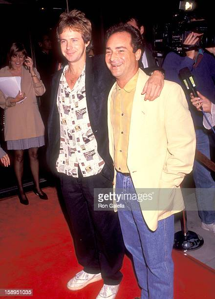 Comedian Dana Carvey and actor Kevin Pollak attend the Screening of the CBS Television Show Morton Hayes on July 22 1991 at Academy Theatre in...