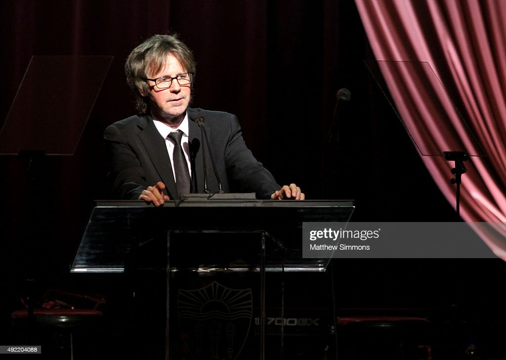 Comedian Dana Carvey speaks on stage at the USC Norris Cancer Center Gala at the Beverly Wilshire Four Seasons Hotel on October 10, 2015 in Beverly Hills, California.