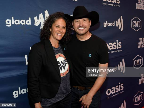 Comedian Dana Goldberg and singer Ty Herndon attend the 2017 Concert for Love Acceptance on June 8 2017 in Nashville Tennessee