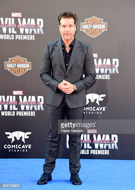 Comedian Dane Cook attends the premiere of Marvel's Captain America Civil War at Dolby Theatre on April 12 2016 in Los Angeles California