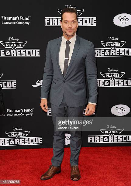 Comedian Dane Cook attends the premiere of 'Planes Fire Rescue' at the El Capitan Theatre on July 15 2014 in Hollywood California