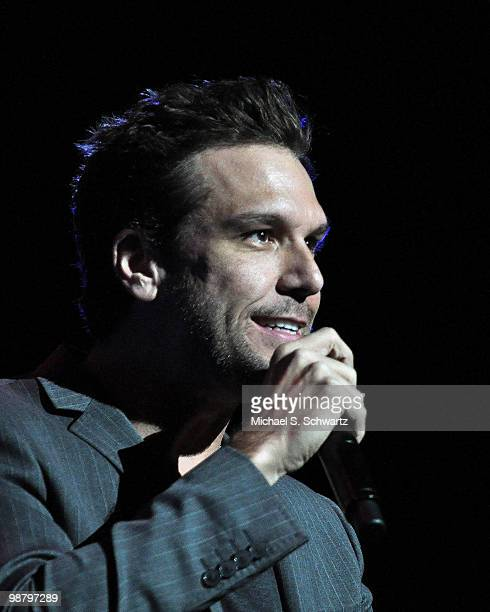 Comedian Dane Cook performs at the Children Affected by Aids Foundation's A Night of Comedy at Saban Theatre on May 1 2010 in Beverly Hills California