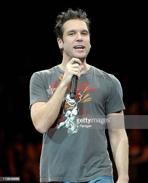 Comedian Dane Cook performs live at the HP Pavilion on December 5 2007 in San Jose California