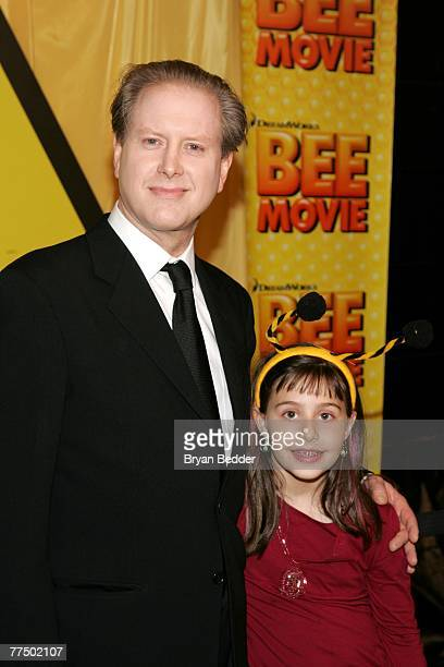 "Comedian Darrell Hammond and daughter Mia Hammond attend the New York 'Black and Yellow' premiere of DreamWorks Animation's ""Bee Movie"" at the AMC..."