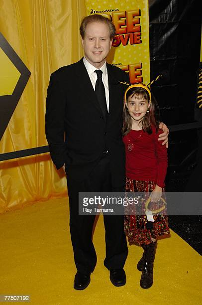 "Comedian Darrell Hammond and his daughter Mia Hammond attend the ""Bee Movie"" premiere at AMC Lincoln Square 13 on October 25, 2007 in New York City."